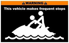 Warning Seadoo stops Sticker Decal