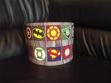 "SUPERHERO LOGO10"" DRUM CEILING LAMPSHADE LIGHTSHADE captain america batman multi"