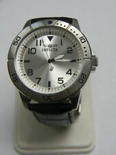 Invicta Watches Men's Specialty Silver Dial Black Leather 11426