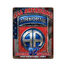All Americans Airborne 82 Division 7.62 Design Army USA Sign Blechschild Schild