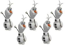 5 X OLAF FROZEN MINI/SMALL IRON ON T SHIRT TRANSFERS LIGHT/WHITE FABRIC5