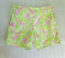 Vtg Mens LILLY PULITZER Swim Shorts Sz Medium Lined Tie Waist Monkey Lilly Print