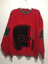 "Vintage History Iceberg Men's 3XL Sweater ""Bart 2000"" Made In ITALY Red Black"