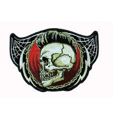 Biker Punk Iro Skull Totenkopf Spinnennetz Chopper Aufbügler Aufnäher Patch NEU