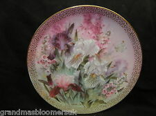 BRADEX SIGNED LENA LIU PLATE IRIS QUARTET SYMPHONY OF SHIMMERING BEAUTY