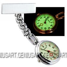 Portátil Cuarzo Reloj de Bolsillo Broche Esfera Redonda para Enfermera Nuevo