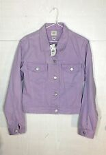 NWT Gap Women's Purple Jean Jacket 100% Cotton Fall winter Button Down Small