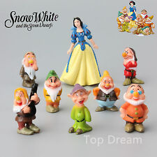 8X Snow White and the Seven Dwarfs Figures PVC Toy Decoration Cake Topper Doll