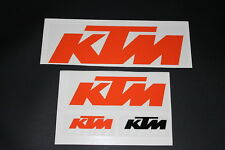 KTM Aufkleber Sticker Decal Bapperl Kleber Autocollant Racing Motocross EXC Set3