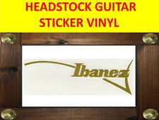 IBANE GOLD LEFT HANDED ZURDO HEADSTOCK STICKER VISIT MY STORE FOR GUITAR CUSTOM