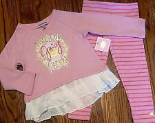 JUICY COUTURE BABY/KIDS GIRLS BRAND NEW 2Pc DRESS LEGGING SET Size 12-18M, NWT