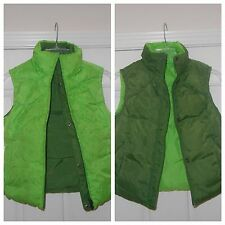 NIKE Women Full Zip Reversible Green Lime Hunter Puffer Vest Size XS Used Girls
