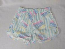 True Vintage 70s Shorts Nylon Vent Sides Tropical Print Disco Summer Shimmer