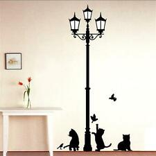 Perfect Design Cats Birds Lamp Kids Wall Sticker for Room Decor Removable PVC