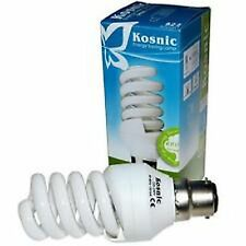 5X Kosnic Energy Saving Warm White CFL Light Bulb 15w B22 Spiral Quick Start