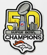 LOT OF (1) NFL 50th SUPER BOWL CHAMPIONS DENVER BRONCOS EMBROIDERED PATCH  # 40