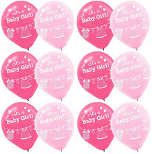 Shower with Love ~ Girl Baby Shower Latex Balloons ~ Party Supplies Favors ~15ct