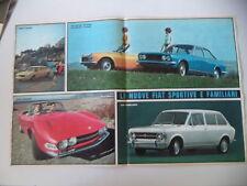 advertising Pubblicità 1969 FIAT DINO COUPE'/SPIDER/124 SPORT SPIDER/COUPE'