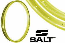 "PAIR SALT HI-Q LITE ALLOY 20"" BIKE RIMS 36 SPOKE STRAIGHT+AERO LIME SWPS+SWPA"