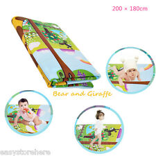 Maboshi 200 x 180cm Baby Kids Play Mat Double-sided Soft Foam Toddler Blanket