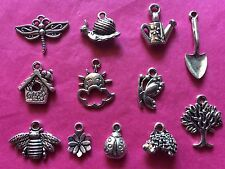 Tibetan Silver Mixed Gardening/Spring Time Charms 12 per pack