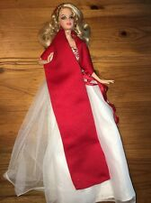 2010 HOLIDAY BARBIE COLLECTOR GLAMOROUS DOLL RED CHRISTMAS RARE BEAUTIFUL! OOAK