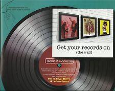 """3 x Retrò Nero 12"""" ALBUM VINILE LP DISCO DI COPERTURA manica Frame Wall Art Nuovo"""