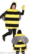 Para Hombre Bumble Bee Animales Insectos Stag hacer Fancy Dress Costume Traje Tamaño Grande