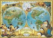 Disney Characters and World Map Cross Stitch Chart