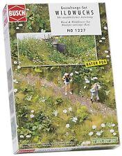 """LOT 12156   Busch HO 1227 Gestaltungs-Set """"Wildwuchs"""" Weed Wildflower NEU in OVP"""