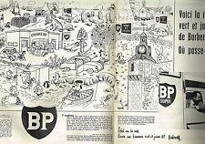 PUBLICITE ADVERTISING  1958   BP   station service par BARBEROUSSE  (2 pages)