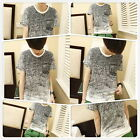 Fashion Men's O-neck Short Sleeve Cotton T-shirt Shirt Short Sleeve Casual OE