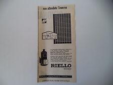 advertising Pubblicità 1959 BRUCIATORI RIELLO