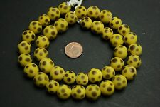 Strang yellow brown eye skunk beads /  lampwork Augen Perlen