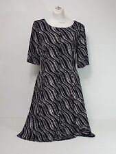 women dresses connected apparel size 10 short sleeve black and white
