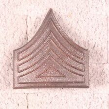 Enlisted Rank Pin:  Army Battalion QM Sergeant - c.1902 bronze, pin back