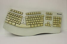 MICROSOFT  VINTAGE ORIGINAL 59758 NATURAL ERGONOMIC PS/2  KEYBOARD E03786USBBM