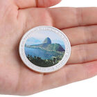 Brazil Rio 2016 Olympic Games Sugarloaf Mountain Silver Plate Commemorative Coin