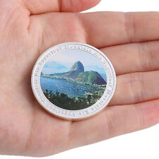 Brazil 2016 Rio Olympic Games Sugarloaf Mountain Silver Plate Commemorative Coin
