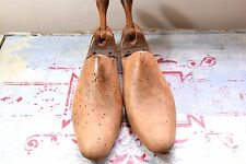 VINTAGE SHOE TREES - OLD WOODEN SHOE TREES - WOODEN SHOE FORMS