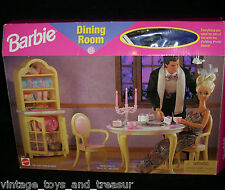 VINTAGE 1996 MATTEL BARBIE DOLL DINING ROOM PLAYSET FOR HER HOUSE NEW IN BOX