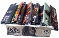 5 PACKS BOB MARLEY KING SIZE cigarette rolling papers pure hemp 33 leaves per pk