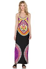 NWT $160 Sz Large L Trina Turk Nuevo Sol Swim Cover Maxi Halter Dress