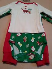 Holiday Winter Snowmen 3-Piece Long Sleeve Infant Boy's size 3-6 Months NWT