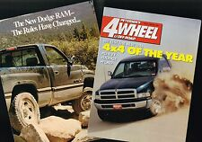 {Pr.} 1994 Dodge Ram PickUp Truck ROAD TEST Brochure's : 1500, Truck of the Year