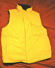 Nautica XL yellow fleece lined water repellent vest, skiing, perhaps?