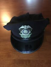Authentic, Obsolete, Massachusetts, Municipal Police Hat Badge w/ Original Hat