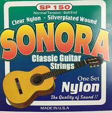 Sonora Classical Guitar Strings Ball End Nylon. Juego De 6 Cuerdas Para Guitarra