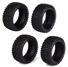 4X Durable Black RC 1:10 Rally Car Off-Road Rubber Wheel Tires 30mm Width 50mm D