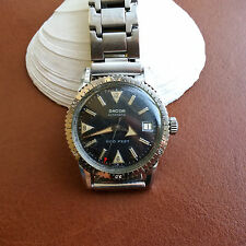 Vintage Dacor Divers/Diving Watch w/Mint Dial,Butterscotch Patina,All SS Case